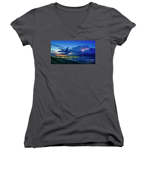 Sunrise Lightning Women's V-Neck