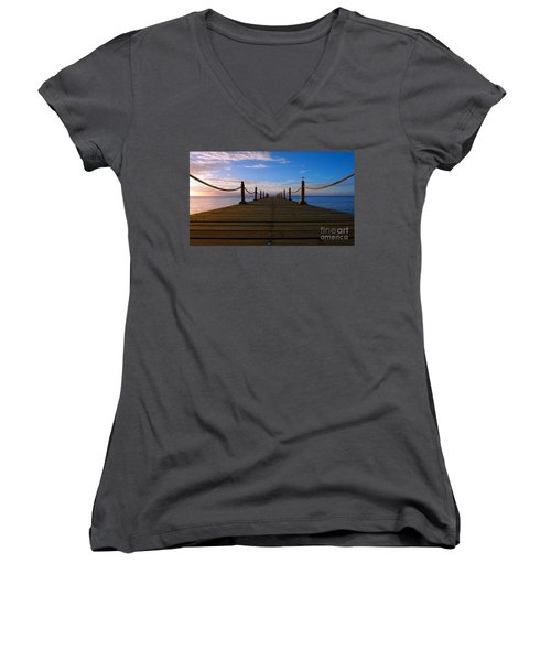Sunrise Morning Bliss Pier 140a Women's V-Neck