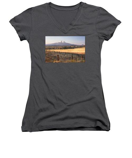 Sunrise Mount Shasta Women's V-Neck