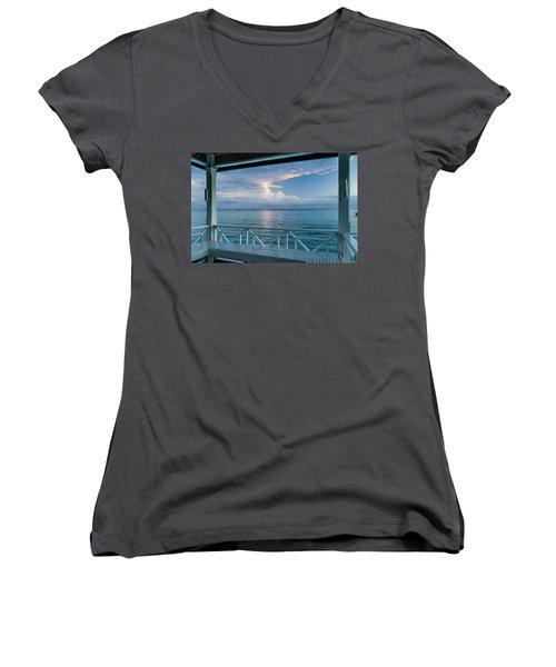 Sunrise, Ocho Rios, Jamaica Women's V-Neck T-Shirt