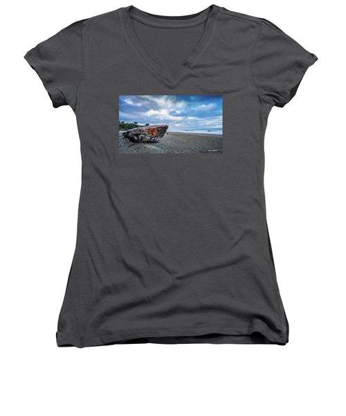 Sunrise On Brookings Women's V-Neck T-Shirt