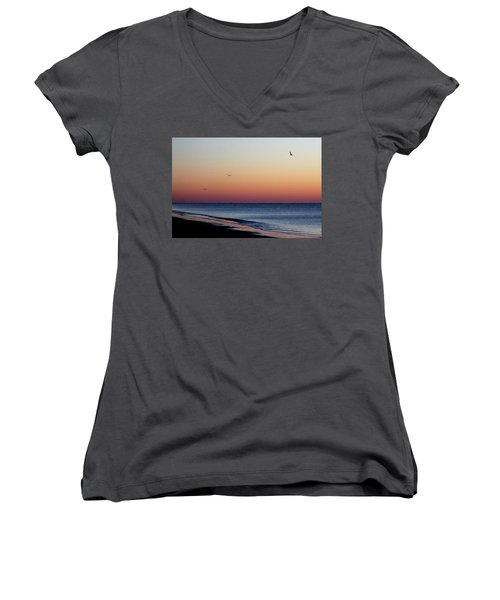 Sunrise On Hilton Head Women's V-Neck T-Shirt