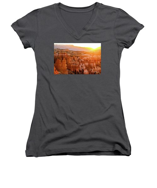 Sunrise Over Bryce Canyon Women's V-Neck (Athletic Fit)
