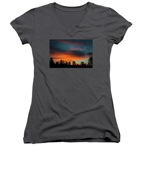 Sunrise Over The Southern San Juans Women's V-Neck T-Shirt (Junior Cut) by Jason Coward
