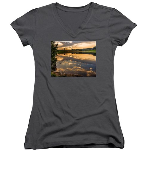 Sunrise Reflections Women's V-Neck (Athletic Fit)