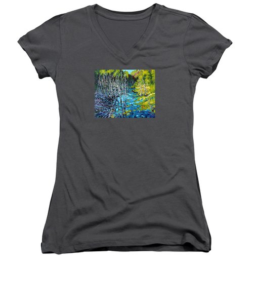 Sunrise Swamp Women's V-Neck
