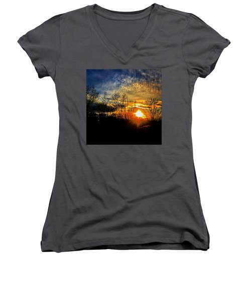 Sunset #1 Women's V-Neck T-Shirt