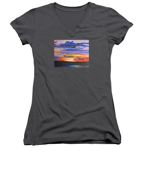 Sunset #5 Women's V-Neck T-Shirt