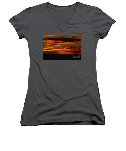 Sunset 5 Women's V-Neck