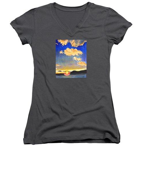 Sunset #6 Women's V-Neck T-Shirt
