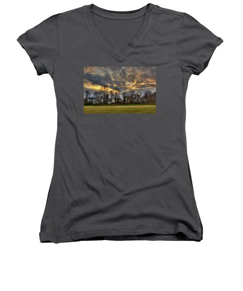 Sunset #9 Women's V-Neck