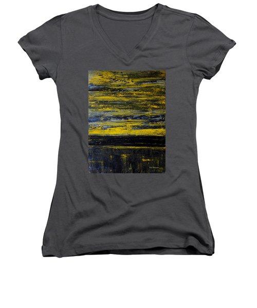 Sunset Abstract Women's V-Neck