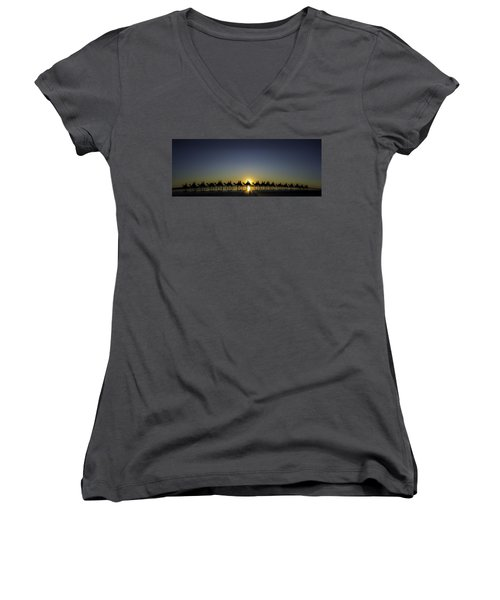 Sunset At Cable Beach Women's V-Neck