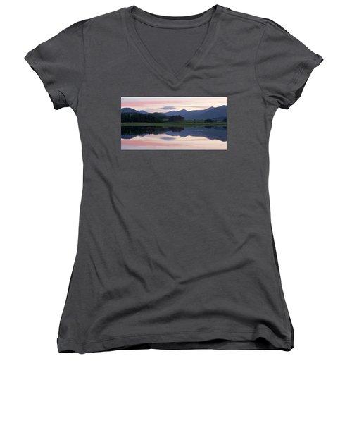 Sunset At Loch Tulla Women's V-Neck T-Shirt