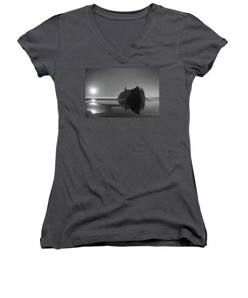 Sunset At Ruby Beach #2 Women's V-Neck T-Shirt