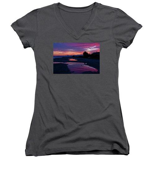 Sunset Women's V-Neck