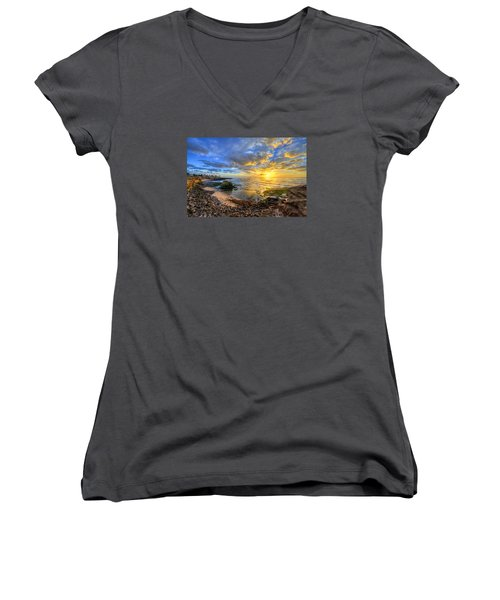 Sunset Cliffs Women's V-Neck