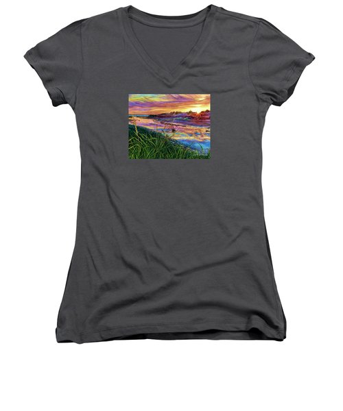 Sunset Creation Women's V-Neck (Athletic Fit)