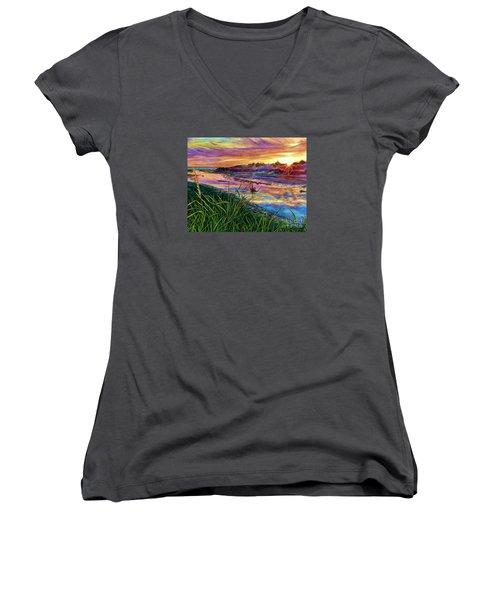 Sunset Creation Women's V-Neck T-Shirt