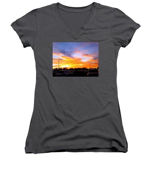 Sunset Forecast Women's V-Neck