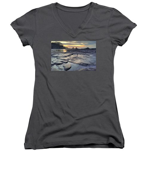 Sunset Glow Women's V-Neck