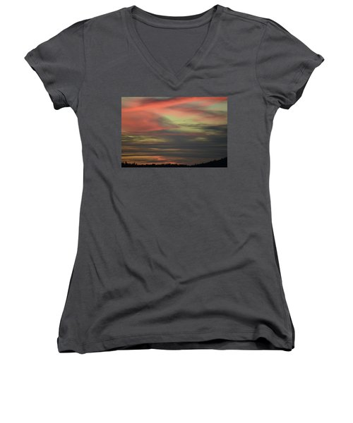 Sunset Home Women's V-Neck (Athletic Fit)