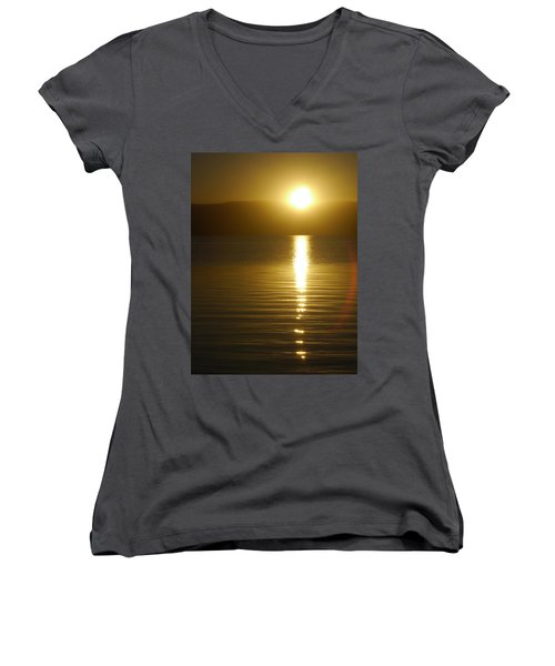 Sunset In January Women's V-Neck (Athletic Fit)