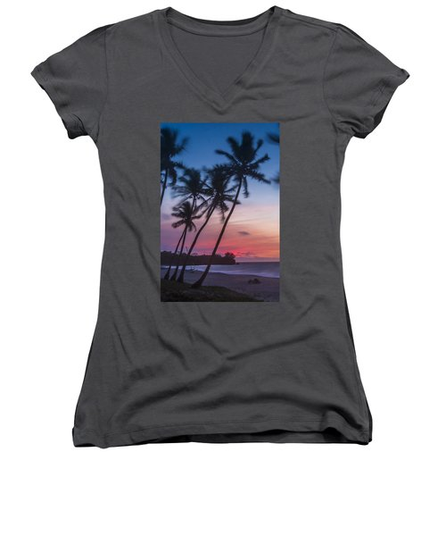 Women's V-Neck featuring the photograph Sunset In Paradise by Alex Lapidus