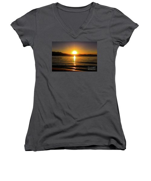 Sunset Lake 1 Women's V-Neck
