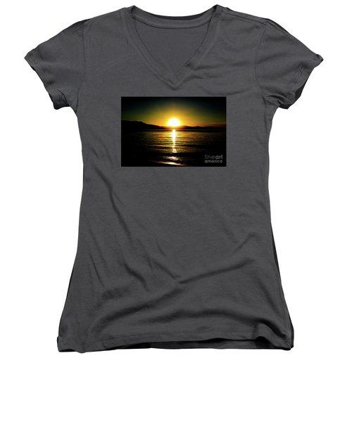 Sunset Lake 2 Women's V-Neck