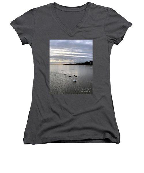 Sunset On The Water  Women's V-Neck