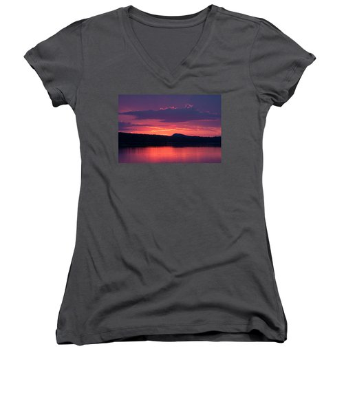 Sunset Over Sabao Women's V-Neck