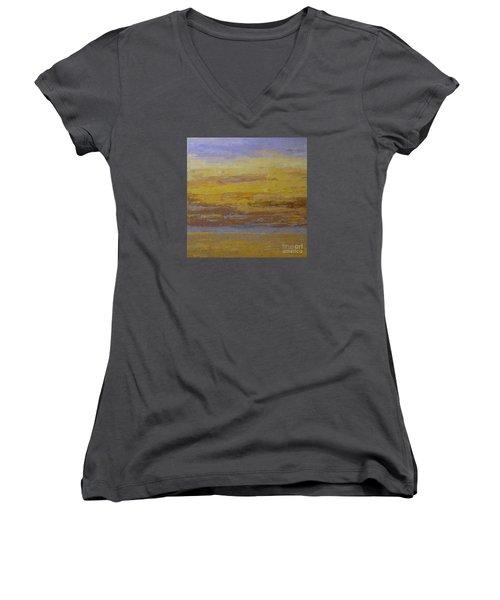 Sunset Storm Clouds Women's V-Neck T-Shirt (Junior Cut) by Gail Kent