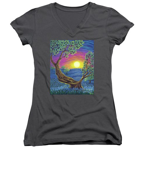 Sunsets Gift Women's V-Neck (Athletic Fit)