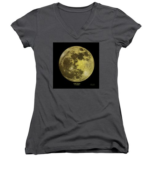 Super Moon Women's V-Neck