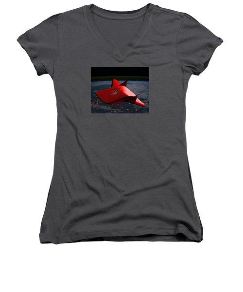 Super Sleigh Women's V-Neck T-Shirt