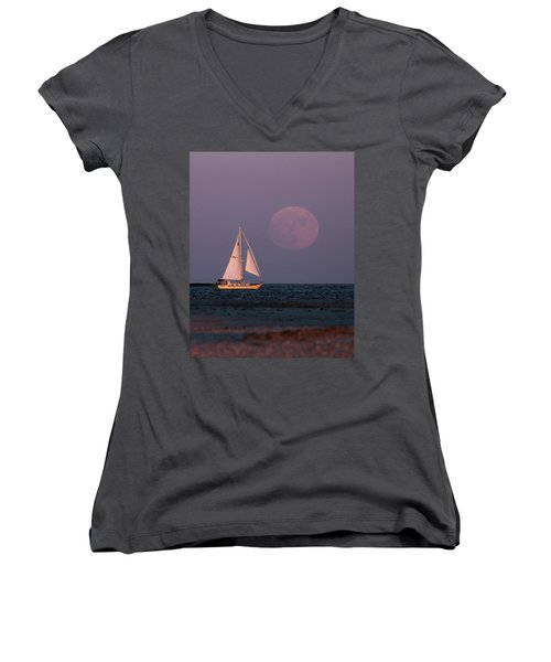 Supermoon Two Women's V-Neck (Athletic Fit)