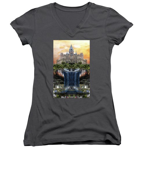 Supported Women's V-Neck T-Shirt
