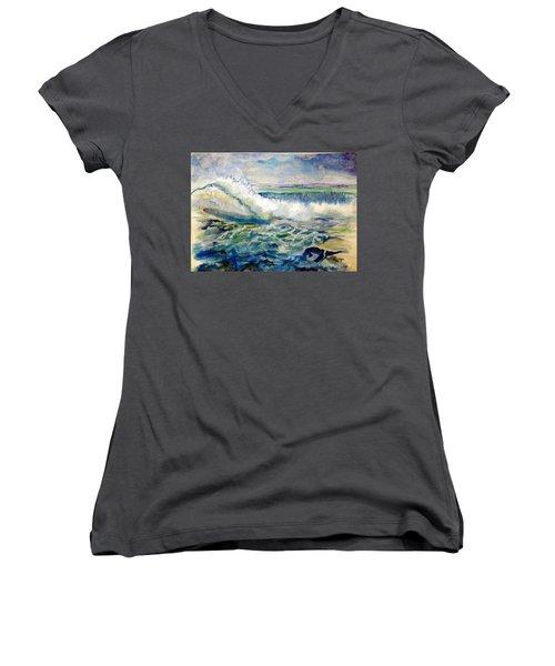 Surf 2 Women's V-Neck T-Shirt
