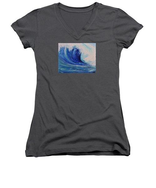 Surf Women's V-Neck T-Shirt (Junior Cut) by Teresa Wegrzyn