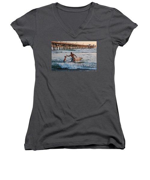 Surfboard Inspirational Women's V-Neck