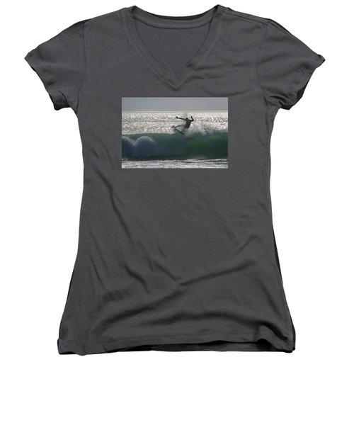 Surfing The Light Women's V-Neck T-Shirt