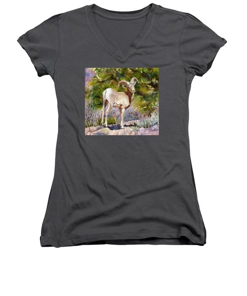 Surprised On The Trail Women's V-Neck (Athletic Fit)