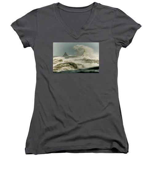 Surrender Women's V-Neck T-Shirt (Junior Cut) by Everet Regal