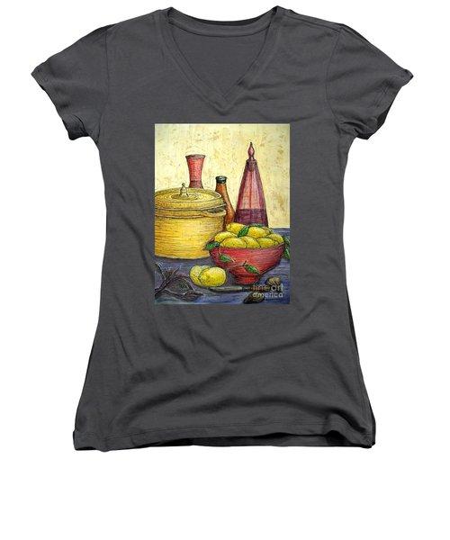 Sustenance Women's V-Neck T-Shirt (Junior Cut) by Kim Jones