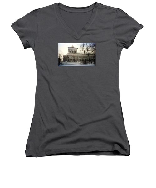 Suzdal  Russia Church Women's V-Neck T-Shirt