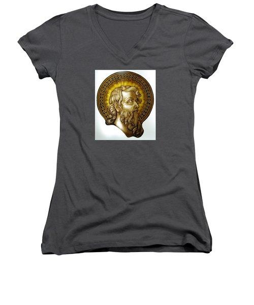 Sw. Jan Chrzciciel Women's V-Neck T-Shirt