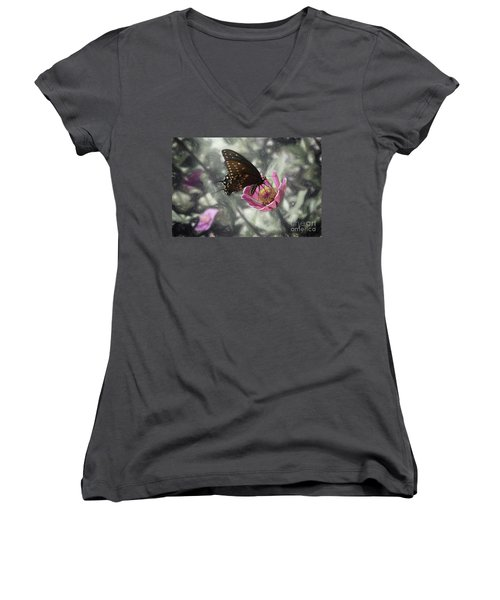 Swallowtail In A Fairytale Women's V-Neck (Athletic Fit)