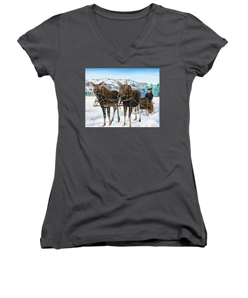 Swamp Donkies Women's V-Neck T-Shirt