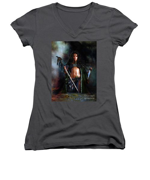 Swamp Witch Women's V-Neck (Athletic Fit)